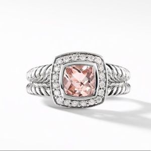 Brand New David Yurman Albion Morganite & Diamonds